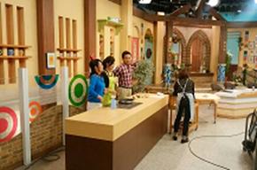 岩手県のテレビ番組、5きげんクッキングの収録風景の様子を記載した画像です。