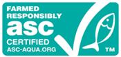 ASC認証「海の認証ラベル」を記載した画像です。